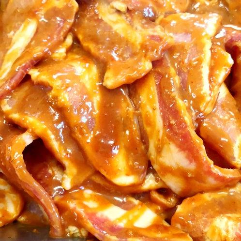 フランス産ラサンテポルク豚バラ味噌漬け焼き肉用味付100g