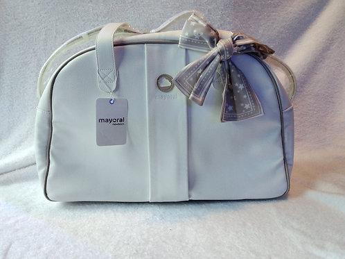 Mayoral white star changing bag