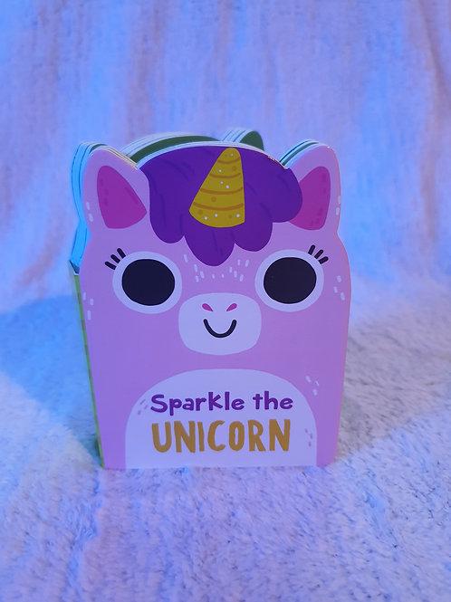 mini cardboard unicorn book