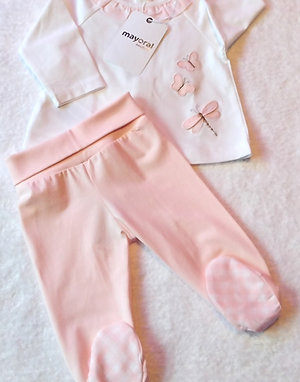 Mayoral baby rose leg warmer set