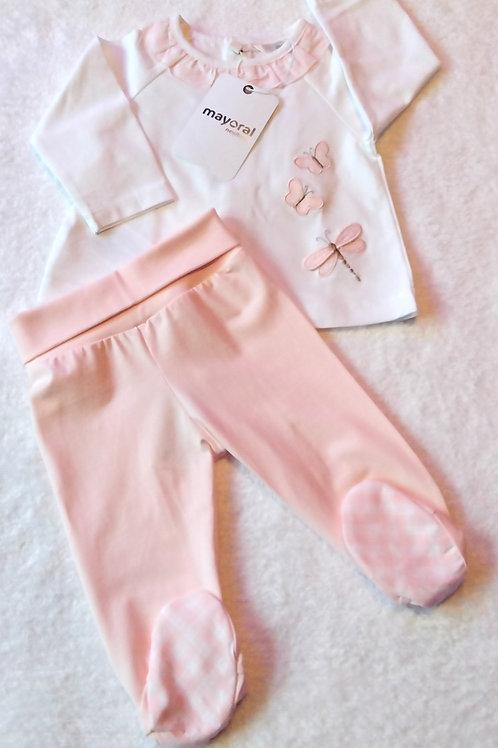Mayoral baby rose leg warmer set