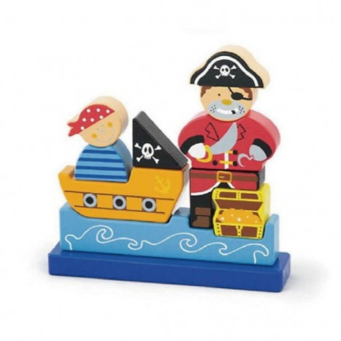 3D magnetic pirate puzzle