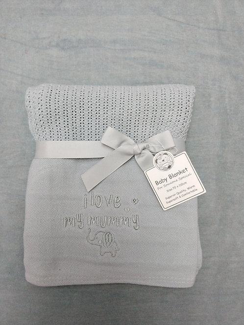 Mummy loves you blanket