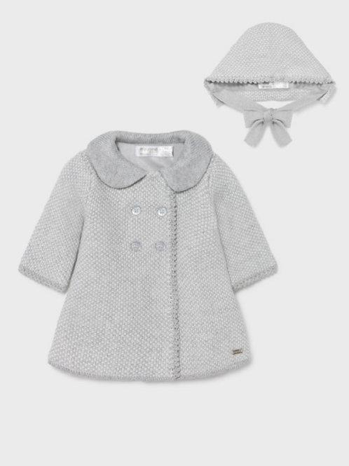 Knit coat and bonnet