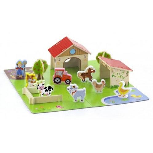 Wooden 3d farm