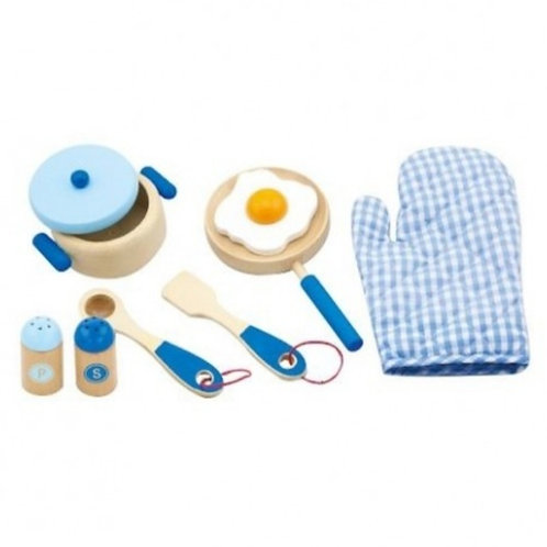 Wooden cooking tool set