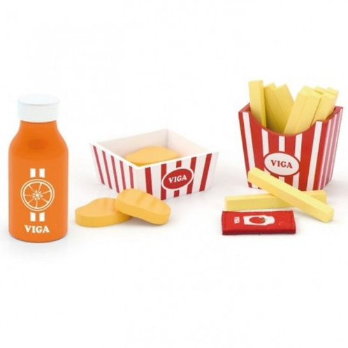 Wooden nuggets and fries set