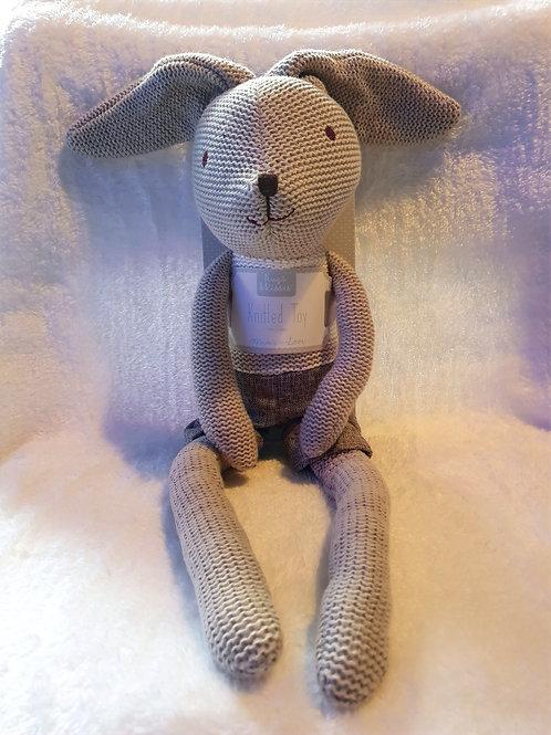 Knitted bunny teddy