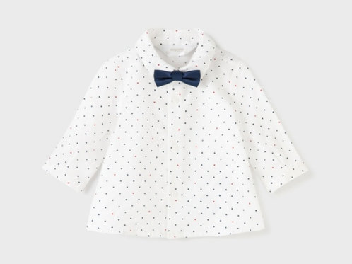Long sleeve shirt with bow tie