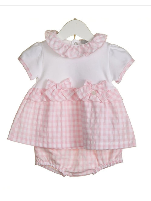 Bluesbaby pink gingham dress with pants