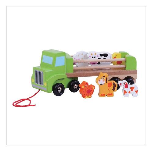 Animal farm train set