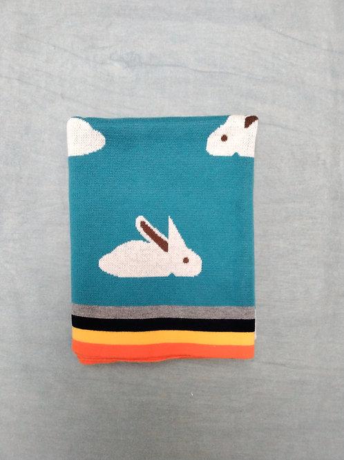 Rabbit print blanket