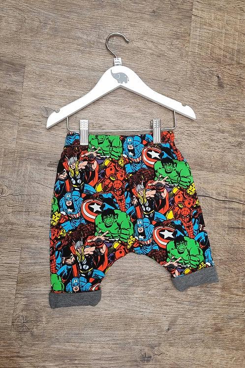 Marvels print trousers