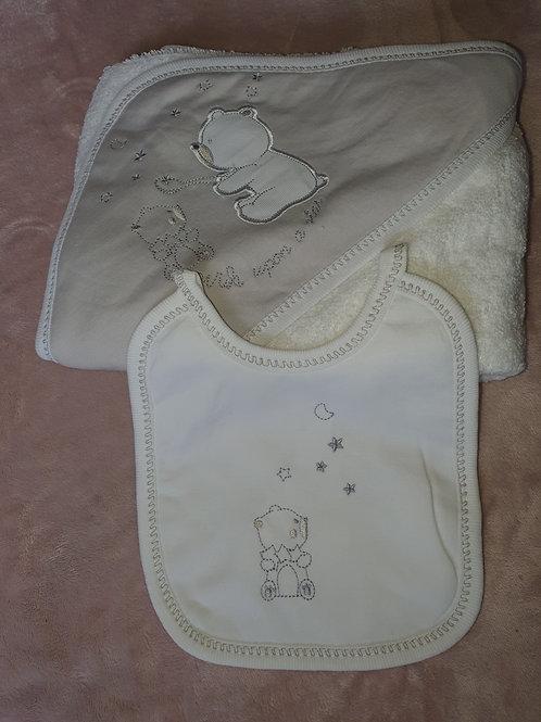 """wish upon a star"" Towel & Bib set"