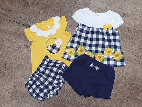 Mix and match sunflower outfits