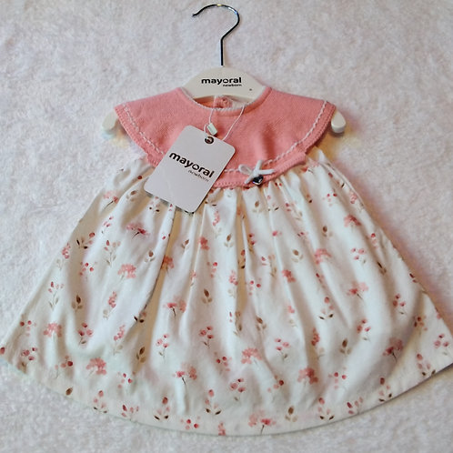 Mayoral baby pink knit dress