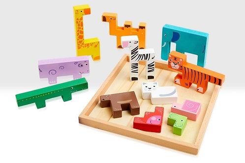 Animal stacking game