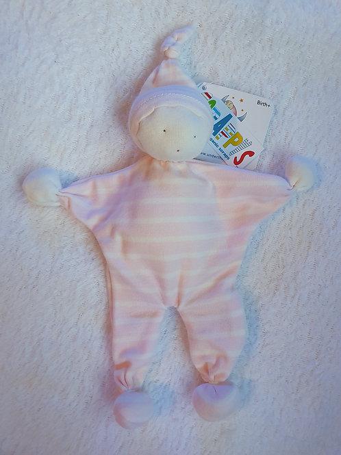 Organic pink stripe baby buddie
