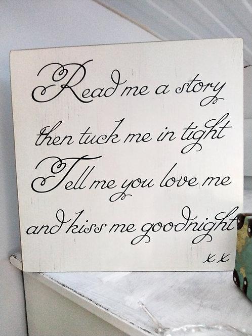 Kiss me goodnight plaque