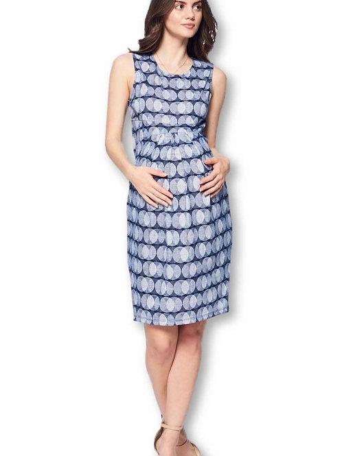 Pleat knee maternity dress