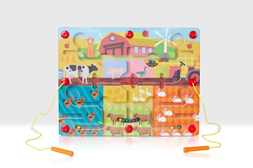Magnetic farm puzzle