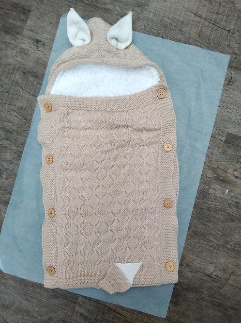 Fleece lined pram blanket