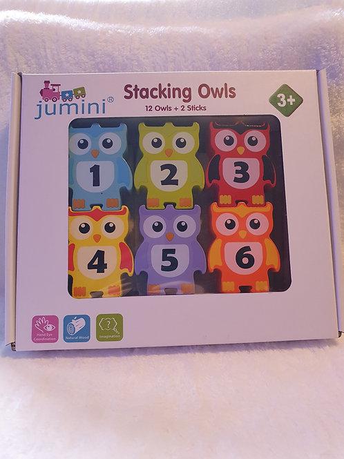 Wooden Owl Stacking Blocks