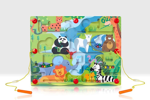 Magnetic zoo puzzle