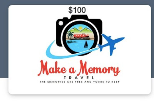 $100.00 Gift Certificate for Honeymoon