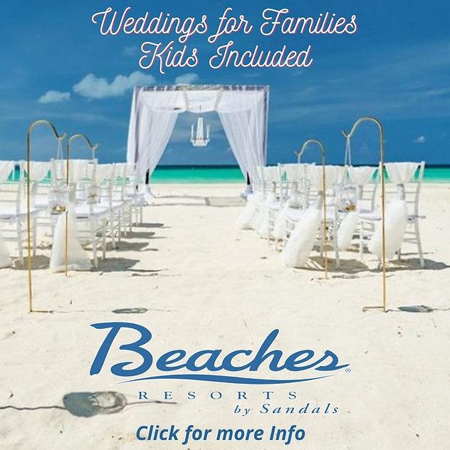 Beaches Weddings for Families Kids Inclu