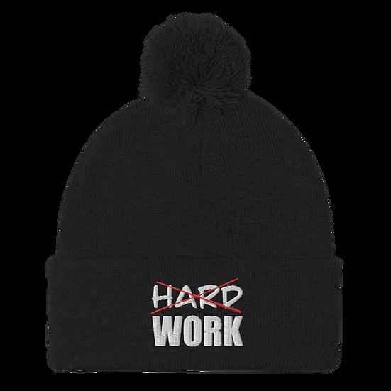Work smart not hard Pom-Pom Beanie