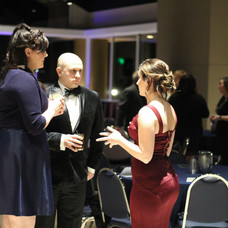 Then VP Cassidy Bones (right) talks with