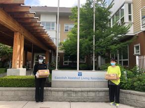 同乡会向北本那比瑞典社区养老院捐赠口罩