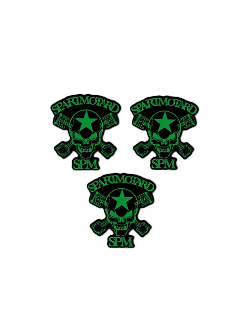 2 Stickers vert + 1 GRATUIT