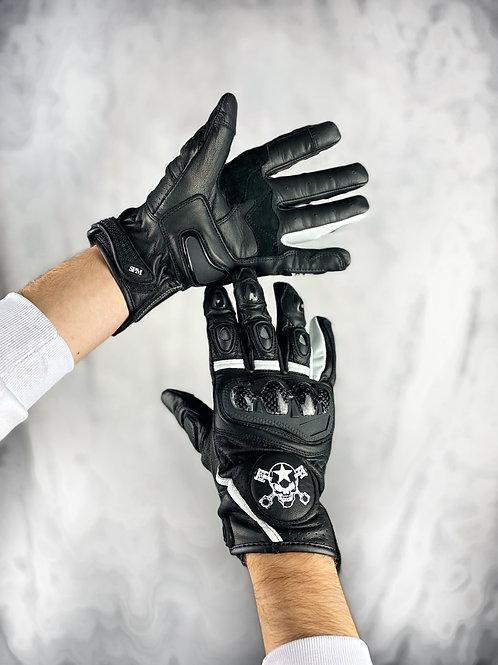 Gants cuir SPM Noir homologués (CE)