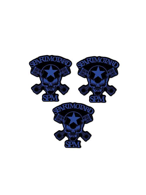 2 Stickers bleu + 1 GRATUIT