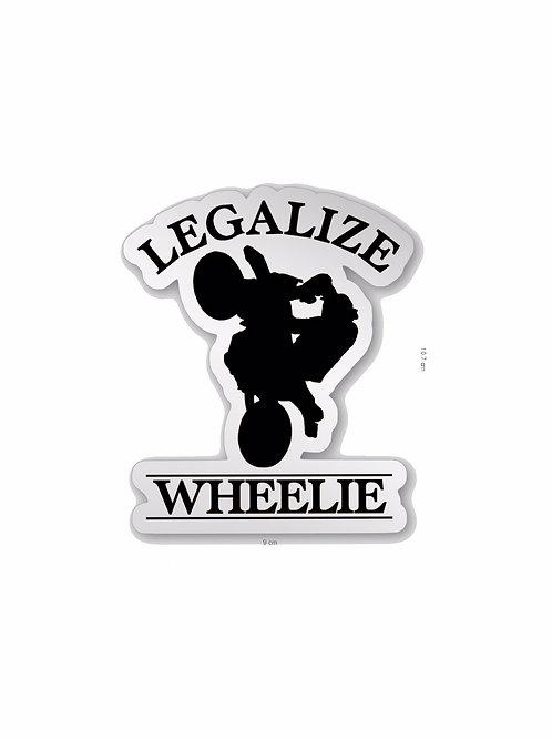 Stickers CHROME legalize wheelie