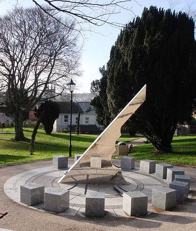 Public Sundial cemetery park