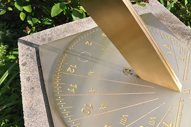 brass garden sundial