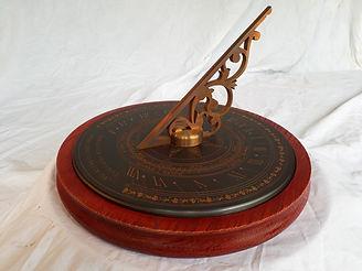 "12"" sundial on oak base"