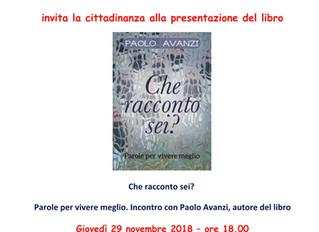 """""""Che racconto sei?"""" presentato dall'autore a Campione d'Italia."""