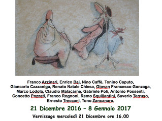 "Collective exhibition ""Maestri Italiani"" by Spazio Intelvi 11 (Dizzasco Como)"
