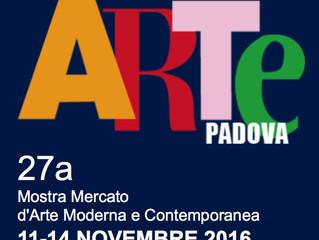 ArtePadova 2016, dall'11 al 14 novembre  in Fiera.