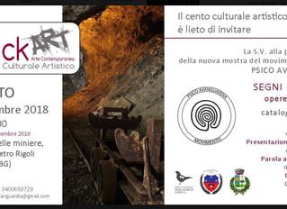 """Collettiva """"Segni inconsci"""" al Museo delle Miniere di Dossena (Bergamo)"""