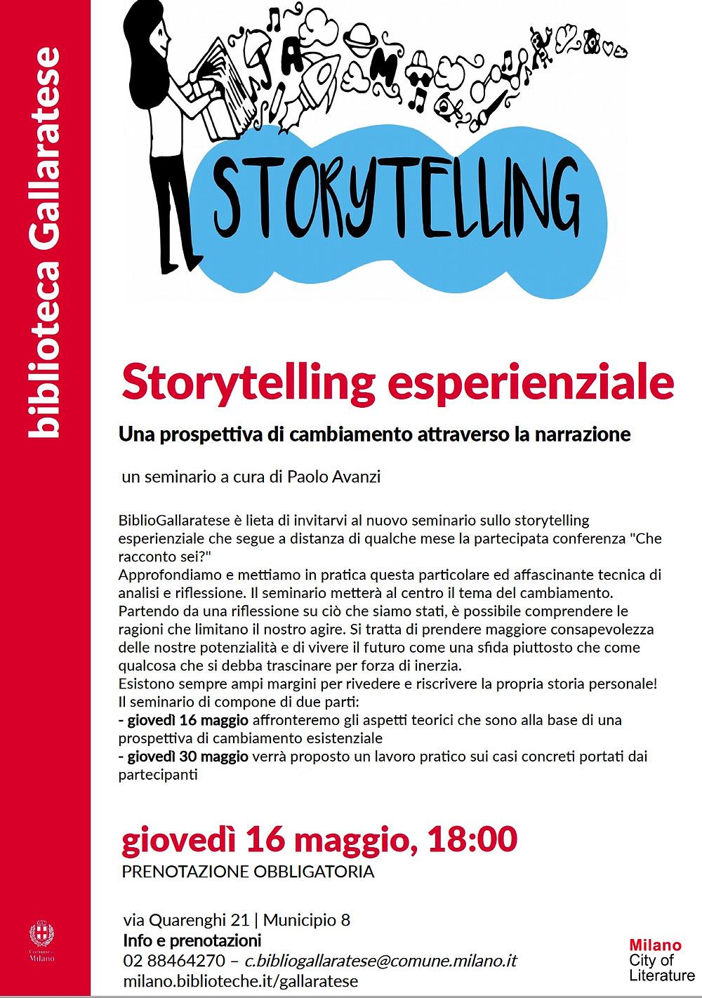 seminario di storytelling esperienziale