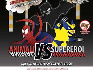 Animali VS Supereroi (mostra interattiva alla Cascina Parco Nord di Sesto S. Giovanni)