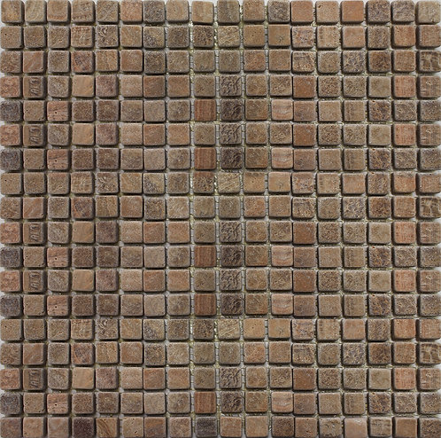 Timber Brown mosaics tumbled full square foot piece