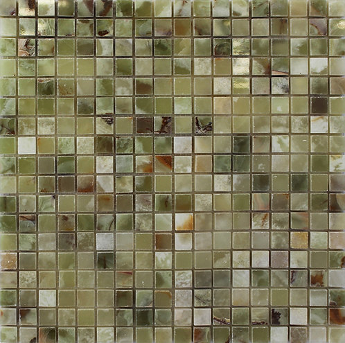 Dark Green Polished Onyx Mosaic perfect if you want your kitchen backsplash to make a statement