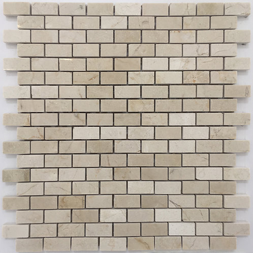 Crema Marfil Brick joint mosaic tile found at Cercan tile the best tile store in Toronto, and Troy Michigan
