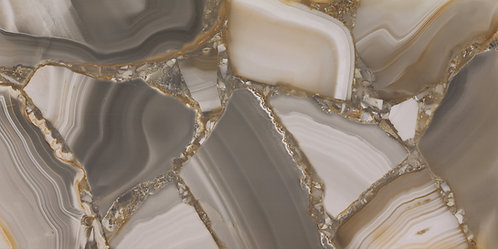 A porcelain tile that imitates semi precious agate.  A uniquely designed tile beautiful in any luxury decor